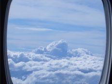 נוף מתוך חלון מטוס