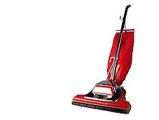מכשיר שואב אבק אדום ושחור