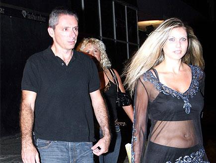 אלון בן דוד עם בת זוגו באירוע השקת ליין האופנה (צילום: עודד קרני)