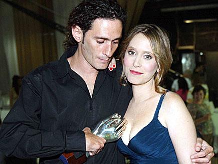 יורם זק עם אחותו עלמה בטקס פרסי הטלויזיה (צילום: עודד קרני)