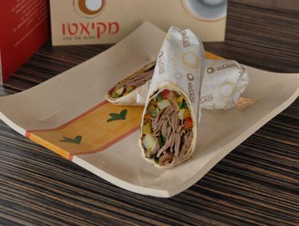 """טורטייה עם אנטריקוט -מסעדת מקיאטו (צילום: יח""""צ)"""