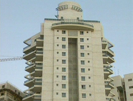 בניין דירות יוקרתי (צילום: חדשות ערוץ 2)