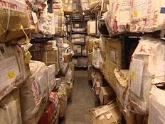 פריטים שלא הגיעו ליעדם - דואר ישראל (תמונת AVI: mako  ,חדשות 2)