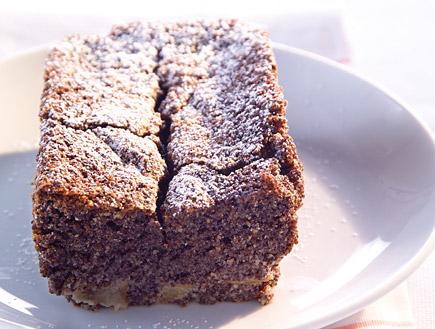 עוגת פרג אגסים יוגורט וקפה