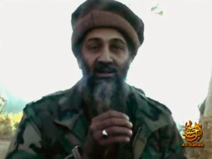 """מנהיג אל-קאעידה, אוסמה בן לאדן. """"ג'יהאד בעזה""""(רויטרס)"""