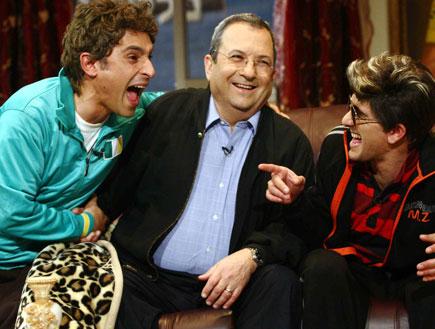מריאנו אידלמן, אהוד ברק, אסי כהן (צילום: עודד קרני ,mako)