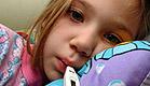 ילדה עם מדחום(istockphoto)