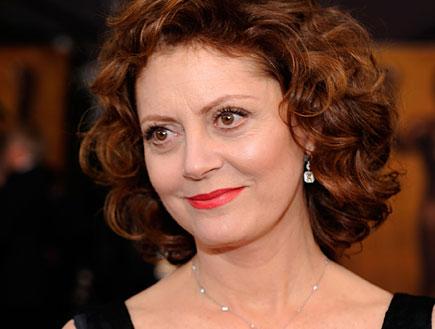 סוזן סרנדון בליפסטיק אדום (צילום: Getty images ,Getty images)