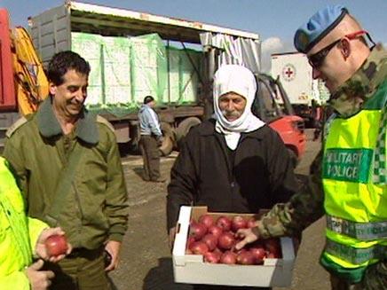 משטר אסד יקנה תפוחים מישראל (צילום: חדשות 2)