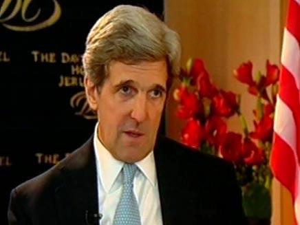 """פגישה נוספת בעניין המו""""מ עם הפלסטינים, קרי (צילום: חדשות 2)"""