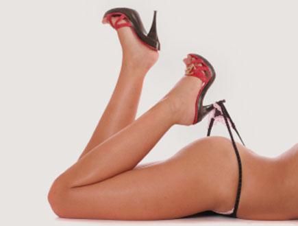 נעל עקב וחוטיני(istockphoto)