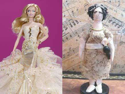 הבובה של סוזן בויל מול ברבי האגדית (צילום: רויטרס, טלגרף)
