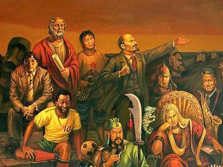 ציור ענק של כל האישיים הגדולים בהיסטוריה (צילום: cliptank)