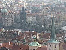 פראג - צילום אוויר של העיר