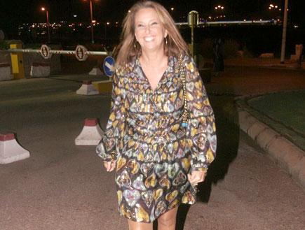 שרי אריסון במסיבה של מדונה (צילום: אלעד דיין ,mako)