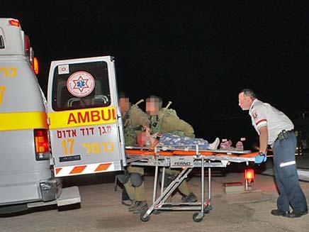 """תאונת אימונים מסתיימת בפציעה. צילום ארכיון (צילום: שי וקנין, דוברות מד""""א)"""
