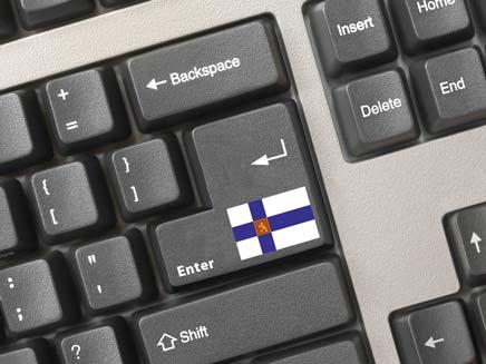 מקלדת עם דגלה של פינלנד (צילום: shutterstock וחדשות 2)