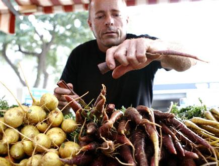 שוק האיכרים: דוכן גזרים