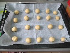 עוגיות חלבה - לפני האפייה