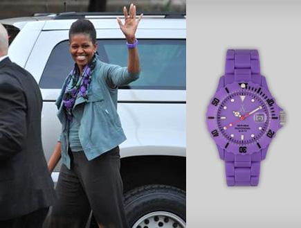 מישל אובמה ושעון - איפה קנית (יח``צ: יחסי ציבור)