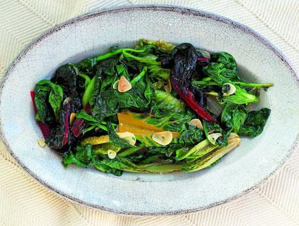 ירקות ירוקים (צילום: דיוויד לופטוס וכריס טרי ,איטליה של ג'יימי, הוצאת כנרת)