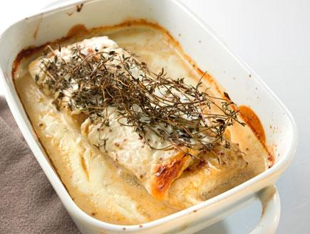 פילה דג עם חרדל ודבש (צילום: מוטי פישבין ,יחסי ציבור)