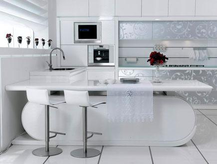 מטבח לבן דקור - עיצוב בלבן (יח``צ: יחסי ציבור)