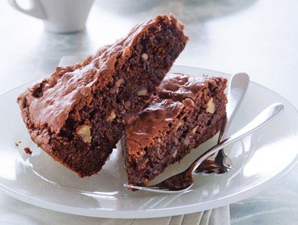 עוגת שוקולד ואגוזים ברגע