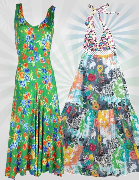 שמלות מקסי. מימין לשמאל: פורנירה לסטורי, דורית שדה