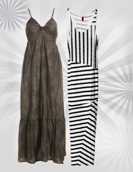 שמלות מקסי. מימין לשמאל: H&M, גולף