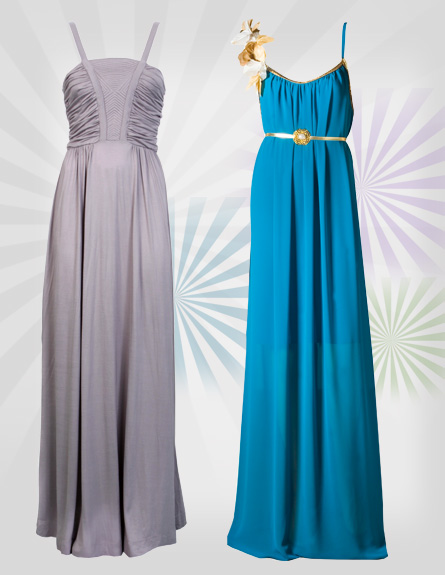שמלות מקסי ערב. מימין לשמאל: יפית אוחיון, פרנץ' קו