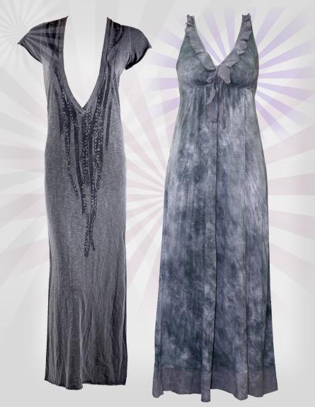 שמלות מקסי. מימין לשמאל: SACK,S, שוגרדדי