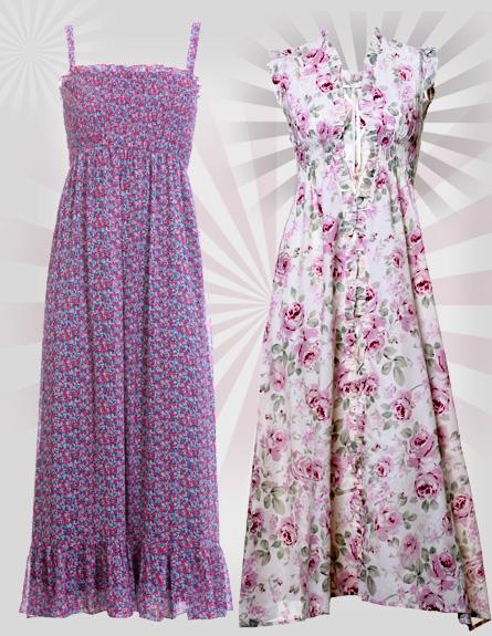 שמלות מקסי. מימין לשמאל: ליליגרייס, בוטיק דידי