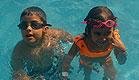 ילדים בבריכה פארק שפיים (צילום: שירלי אהרון)