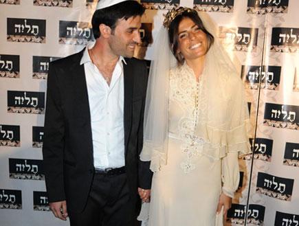 לינור אברג'יל חתונה (צילום: אלעד דיין ,mako)