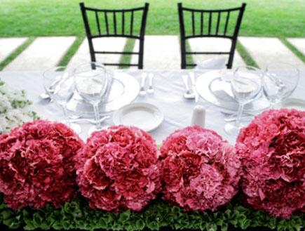 עיצוב שולחן לחתונה