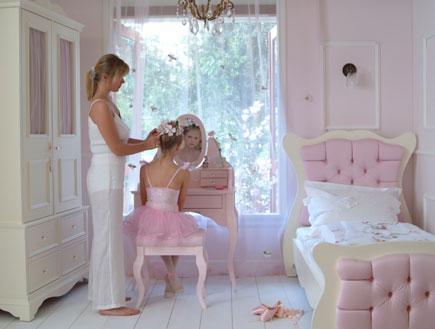 עיצוב חדרי ילדות חדר נערות ורוד חגית סער