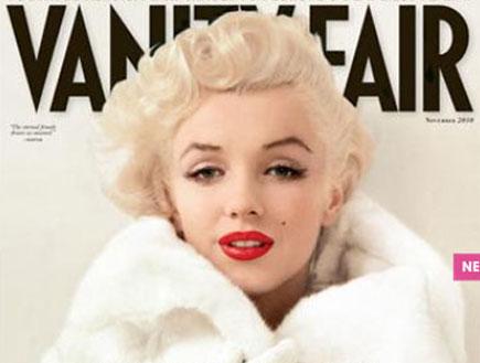 """מרילין מונרו על שער מגזין """"וניטי פייר"""" (צילום: צילום מסך)"""
