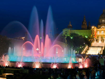 מזרקת הקסם - ילדים בברצלונה