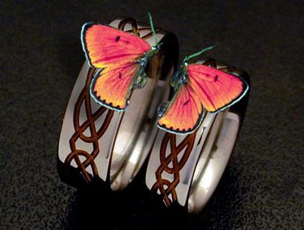 טבעת נישואים - פרפרים