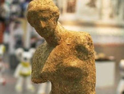 פסל מצואת פנדה (צילום: צילום מסך)