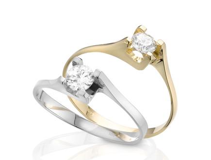 טבעת יהלום סוליטר (יח``צ: לין ממרן)