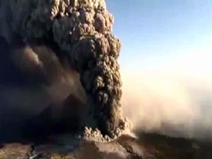 התפרצות הר געש ביפן (צילום: חדשות 2)