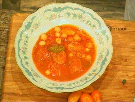 מרק חומוס ועגבניות