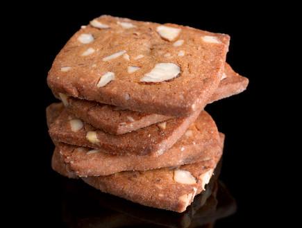עוגיות שקדים וסוכר חום (צילום: דרור כץ ,אמנות הפטיסרי, הוצאת כל טקסט)