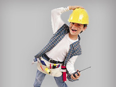 Construction Worker Halloween Costume for Kids