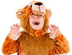 ילד מחופש לאריה