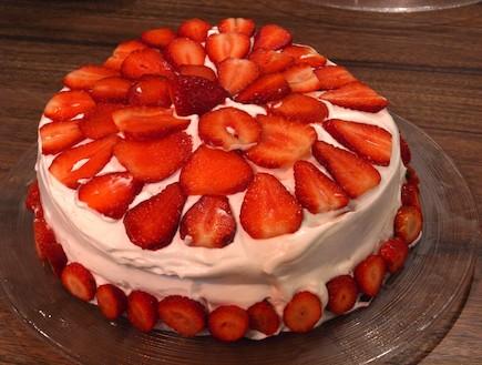 שבע מנות - עוגת טורט עם קצפת ותותים (צילום: שי שרף ,7 מנות ל-7 ימים)