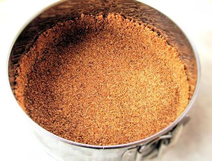 עוגת גבינה ושוקולד לפסח - הבסיס