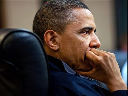 שפת הגוף של הנשיא אובמה (צילום: AP)